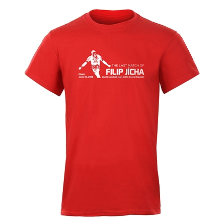 T-shirt THE LAST MATCH red men's