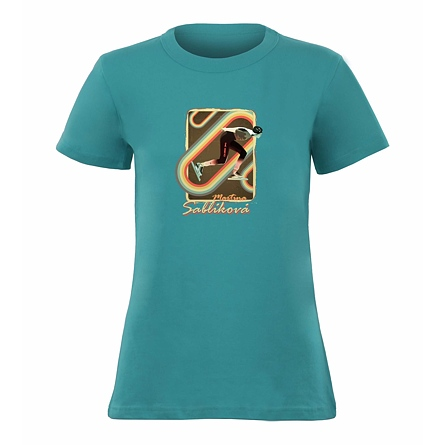 Retro - WOMEN'S LIGHT BLUE T-SHIRT