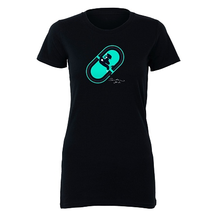 Oval - WOMEN'S DARK BLUE T-SHIRT BIO